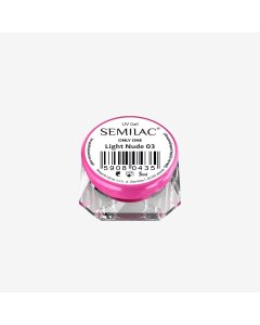 Gel constructor 03 SEMILAC UV GEL ONLY ONE LIGHT NUDE 5 ML