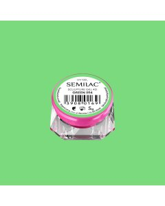 594 Semilac Sculpture Gel  4D Green 5g
