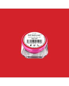 597 SEMILAC SCULPTURE GEL 4D RED 5 G