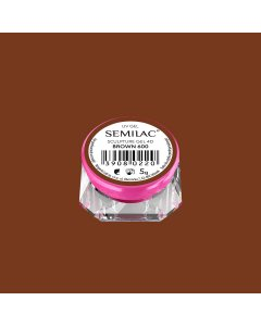 600 Semilac Sculpture Gel  4D Brown 5g